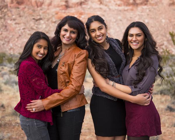 Swati and her daughters, Rohini, Shivani and Saleena.