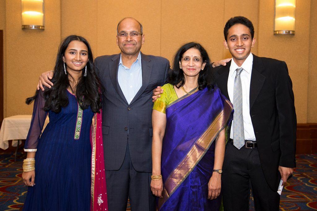 Sahana, her father Ramesh, mother Sujatha, and brother Sandeep