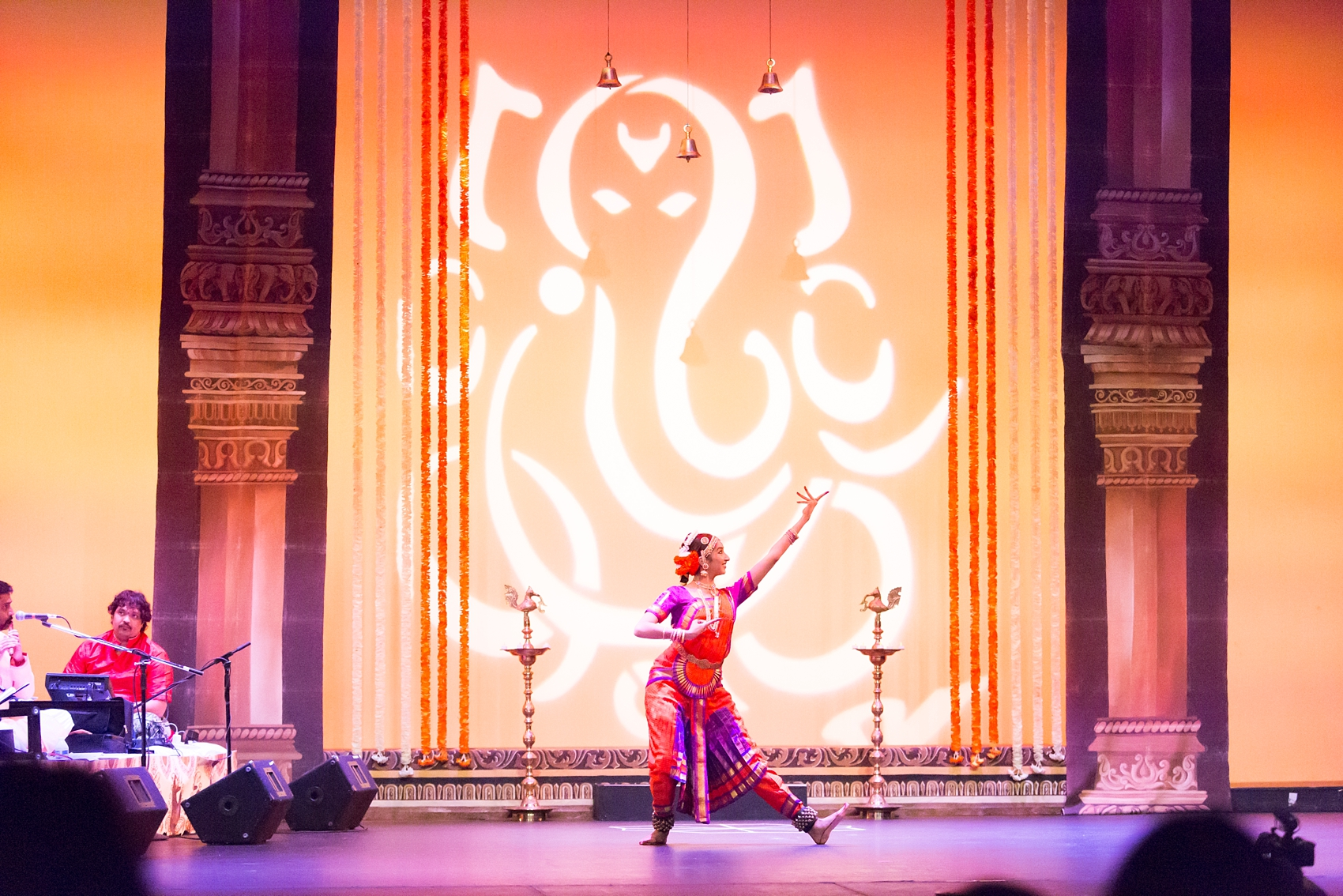 The first dance was performed in honor of the god Ganesha.