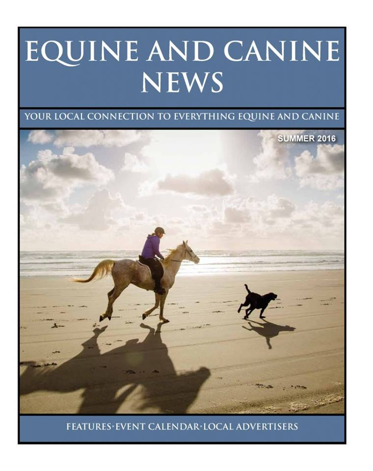 July 2016 Cover Image of Equine and Canine News